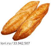 Two French baguettes. Стоковое фото, фотограф Яков Филимонов / Фотобанк Лори