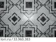 Купить «Linoleum with brown geometric pattern», фото № 33960383, снято 22 ноября 2015 г. (c) Nataliia Zhekova / Фотобанк Лори