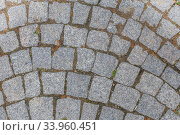 texture of stone pavement tiles cobblestones background. Стоковое фото, фотограф Nataliia Zhekova / Фотобанк Лори