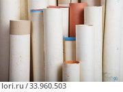 rolls of old paper background. Стоковое фото, фотограф Nataliia Zhekova / Фотобанк Лори