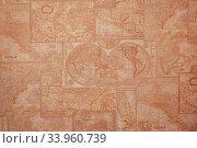 old world map vintage pattern. Стоковое фото, фотограф Nataliia Zhekova / Фотобанк Лори