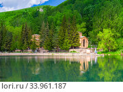 Mineral water lake and drinking gallery in Jermuk, Armenia. Стоковое фото, фотограф Константин Лабунский / Фотобанк Лори