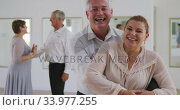 Купить «Caucasian senior couple spending time together in a ballroom», видеоролик № 33977255, снято 8 ноября 2019 г. (c) Wavebreak Media / Фотобанк Лори