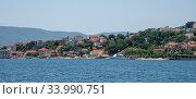 Купить «View of the typical town in Kotor Bay, Montenegro», фото № 33990751, снято 10 июня 2019 г. (c) Володина Ольга / Фотобанк Лори