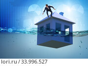 Купить «Mortgage repayment failure concept with man», фото № 33996527, снято 10 июля 2020 г. (c) Elnur / Фотобанк Лори