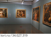 Купить «Exhibition 'The time of Caravaggio. Masterpieces from Roberto Longhi collection', in Caffarelli Palace, Capitolini Museums ,Rome, ITALY-16-06-2020.», фото № 34027319, снято 16 июня 2020 г. (c) age Fotostock / Фотобанк Лори
