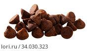 Dessert truffles sprinkled with cocoa. Стоковое фото, фотограф Яков Филимонов / Фотобанк Лори