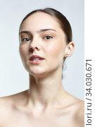 Купить «Headshot of emotional female face portrait with shock facial expression.», фото № 34030671, снято 8 мая 2020 г. (c) Serg Zastavkin / Фотобанк Лори