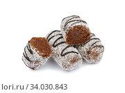 chocolate cake with coconut. Стоковое фото, фотограф Nataliia Zhekova / Фотобанк Лори