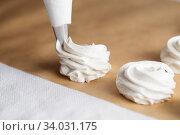 The process of making marshmallow. Стоковое фото, фотограф Nataliia Zhekova / Фотобанк Лори