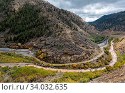 Купить «USA, Utah, Railroad near Tucker», фото № 34032635, снято 6 июля 2020 г. (c) age Fotostock / Фотобанк Лори