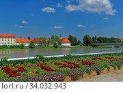 Ortsansicht Ptuj (Pettau), Fluß, Drava, Drau. Стоковое фото, фотограф Bernd J. W. Fiedler / age Fotostock / Фотобанк Лори