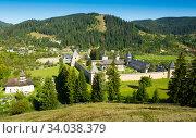 Sucevita Monastery on Bucovina (2017 год). Стоковое фото, фотограф Яков Филимонов / Фотобанк Лори