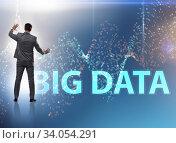 Купить «Big data concept with data mining analyst», фото № 34054291, снято 5 августа 2020 г. (c) Elnur / Фотобанк Лори
