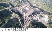 Panoramic landscape of fortress of Nossa Senhora da Graca in Elvas, Portugal. Стоковое видео, видеограф Яков Филимонов / Фотобанк Лори