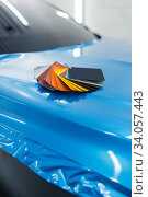 Car wrapping, foil or film color palette, nobody. Стоковое фото, фотограф Tryapitsyn Sergiy / Фотобанк Лори