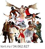 Купить «Literary Classics and Fictional Characters Dreamed Up By a Child», фото № 34062827, снято 7 июля 2020 г. (c) easy Fotostock / Фотобанк Лори