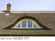 Купить «A reed- or thatched roof with eyelid dormer of a residential house as usual Mecklenburg Pomerania, Germany.», фото № 34067571, снято 3 августа 2011 г. (c) easy Fotostock / Фотобанк Лори