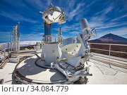 The Vacuum Tower Telescope (VTT), Solar Telescope, Observatorio del Teide, Tenerife, Canary Islands, Spain...The VTT and the GREGOR are operated by four... Стоковое фото, фотограф Javier Larrea / age Fotostock / Фотобанк Лори