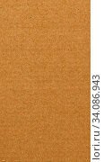 Купить «Brown corrugated cardboard useful as a background - vertical», фото № 34086943, снято 6 июля 2020 г. (c) easy Fotostock / Фотобанк Лори