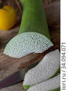 Купить «Riesentaro (Blattgemüse), reich an Calciumoxalat», фото № 34094071, снято 5 августа 2020 г. (c) easy Fotostock / Фотобанк Лори