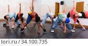 Купить «Happy tweens practicing hip hop in dance studio», фото № 34100735, снято 15 июля 2020 г. (c) Яков Филимонов / Фотобанк Лори