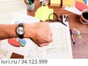 Купить «Concept of time and deadline at work», фото № 34123999, снято 10 июля 2020 г. (c) age Fotostock / Фотобанк Лори