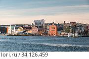 Kristiansund landscape, coastal Norwegian town (2016 год). Стоковое фото, фотограф EugeneSergeev / Фотобанк Лори