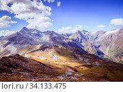 Mountain Range in the Alps: Großglockner and the High Alpine Road in Austria, Summer time. Стоковое фото, фотограф Zoonar.com/Patrick Daxenbichler / easy Fotostock / Фотобанк Лори