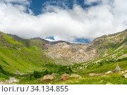 Купить «Terskol Gorge. North Caucasus», фото № 34134855, снято 15 августа 2018 г. (c) Арестов Андрей Павлович / Фотобанк Лори