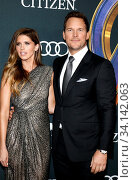 Katherine Schwarzenegger and Chris Pratt at the World premiere of 'Avengers: Endgame' held at the LA Convention Center in Los Angeles, USA on April 22, 2019. Стоковое фото, фотограф Zoonar.com/Lumeimages.com / age Fotostock / Фотобанк Лори
