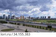 Купить «Городской пейзаж в Нур-Султане, Казахстан», фото № 34155383, снято 28 июня 2020 г. (c) Максим Гулячик / Фотобанк Лори