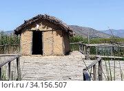 Neolithic lakeshore settlement near the village of Dispilio (Macedonia, northwest Greece) (2017 год). Стоковое фото, фотограф Татьяна Ляпи / Фотобанк Лори