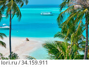 Купить «Three year old toddler boy on beach with mother. Summer family vacation at Maldives.», фото № 34159911, снято 9 июля 2020 г. (c) easy Fotostock / Фотобанк Лори