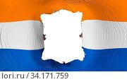 Купить «Square hole in the Albany city, capital of New York state flag, white background, 3d rendering», фото № 34171759, снято 12 июля 2020 г. (c) easy Fotostock / Фотобанк Лори