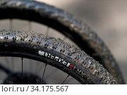 Mountain bike wheels. Detail. France. Стоковое фото, фотограф Pascal Deloche / Godong / age Fotostock / Фотобанк Лори