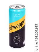 Schweppes Bitter Lemon (2020 год). Редакционное фото, фотограф Art Konovalov / Фотобанк Лори