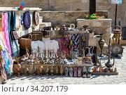 Купить «Souvenir market in the Old City in Baku, Azerbaijan», фото № 34207179, снято 27 сентября 2019 г. (c) Евгений Ткачёв / Фотобанк Лори