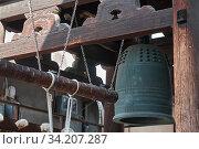 Bonsho (The Buddhist bell) in the Buddhist temple of Kyoto. Japan (2007 год). Стоковое фото, фотограф Serg Zastavkin / Фотобанк Лори