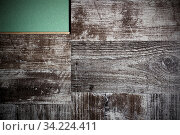 Купить «Laying laminate flooring. Laminate and substrate green.», фото № 34224411, снято 4 августа 2020 г. (c) age Fotostock / Фотобанк Лори