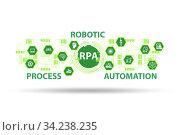 Illustration of RPA - robotic process automation. Стоковое фото, фотограф Elnur / Фотобанк Лори