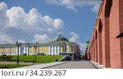 Купить «Inside of Moscow Kremlin, Russia (day, against the cloudy sky).», видеоролик № 34239267, снято 14 июля 2020 г. (c) Владимир Журавлев / Фотобанк Лори