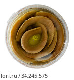 Preserved marinated herring. Стоковое фото, фотограф Яков Филимонов / Фотобанк Лори