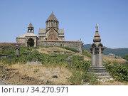 Gandzasar monastery (13-th century AD), an Armenian monastery, Mardakert region, Nagorno Karabakh Republic. After the war with Azerbadjan. Photo: André Maslennikov. Стоковое фото, фотограф Andre Maslennikov / age Fotostock / Фотобанк Лори