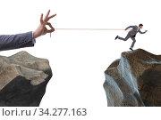Купить «Boss holding his employee in retention concept», фото № 34277163, снято 3 августа 2020 г. (c) Elnur / Фотобанк Лори