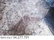 Купить «Stone floor tiling with abstract cubic pattern», фото № 34277791, снято 8 марта 2020 г. (c) EugeneSergeev / Фотобанк Лори