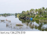De Vong river, near An Bang, near Hoi An, Vietnam, Asia. Стоковое фото, фотограф Peter Erik Forsberg / age Fotostock / Фотобанк Лори