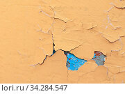 Texture concrete industrial background - peeling paint on the old rough surface. Стоковое фото, фотограф Зезелина Марина / Фотобанк Лори