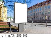 empty billboard in tallinn city, estonia. Стоковое фото, фотограф Syda Productions / Фотобанк Лори