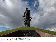 Купить «Ржевский мемориал советскому солдату», эксклюзивное фото № 34298139, снято 24 июля 2020 г. (c) Дмитрий Неумоин / Фотобанк Лори